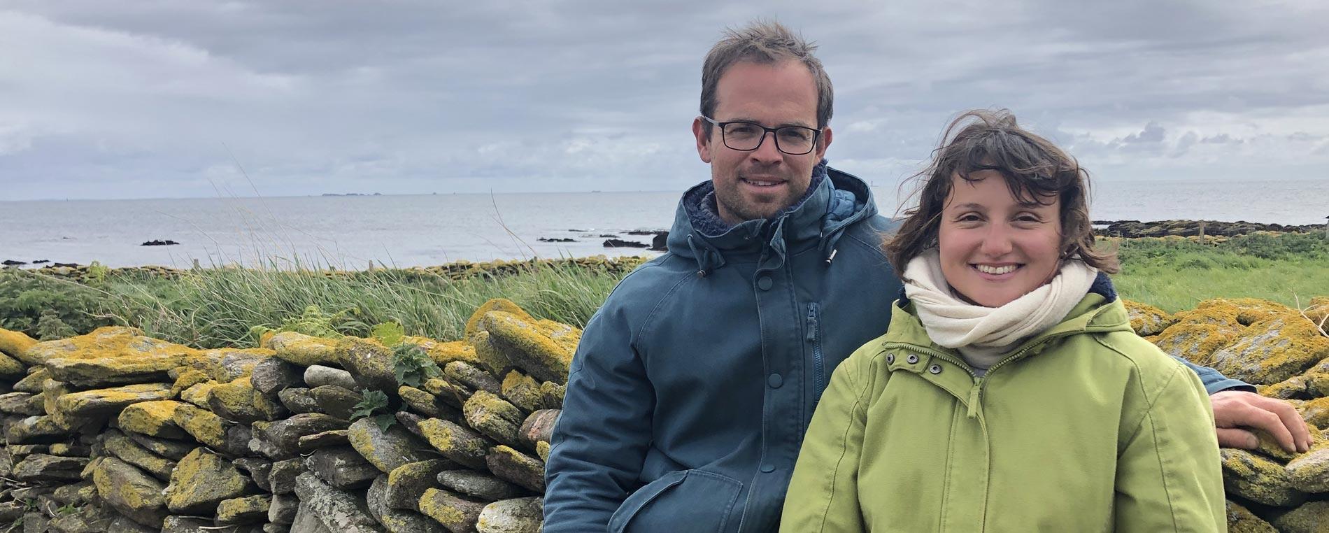 Amélie Goossens et Étienne Menguy