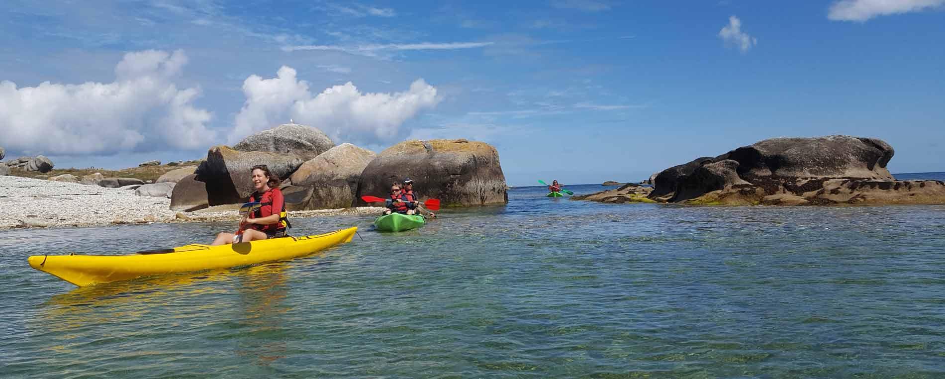 Sortie en kayak à Molène