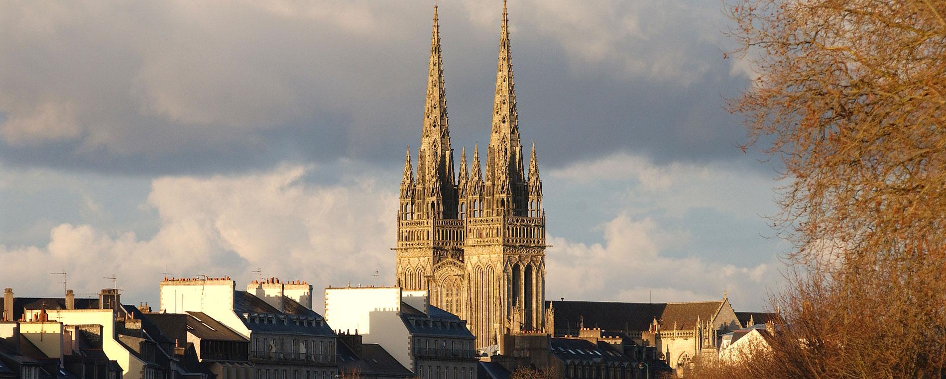 La cathédrale Saint-Corentin à Quimper