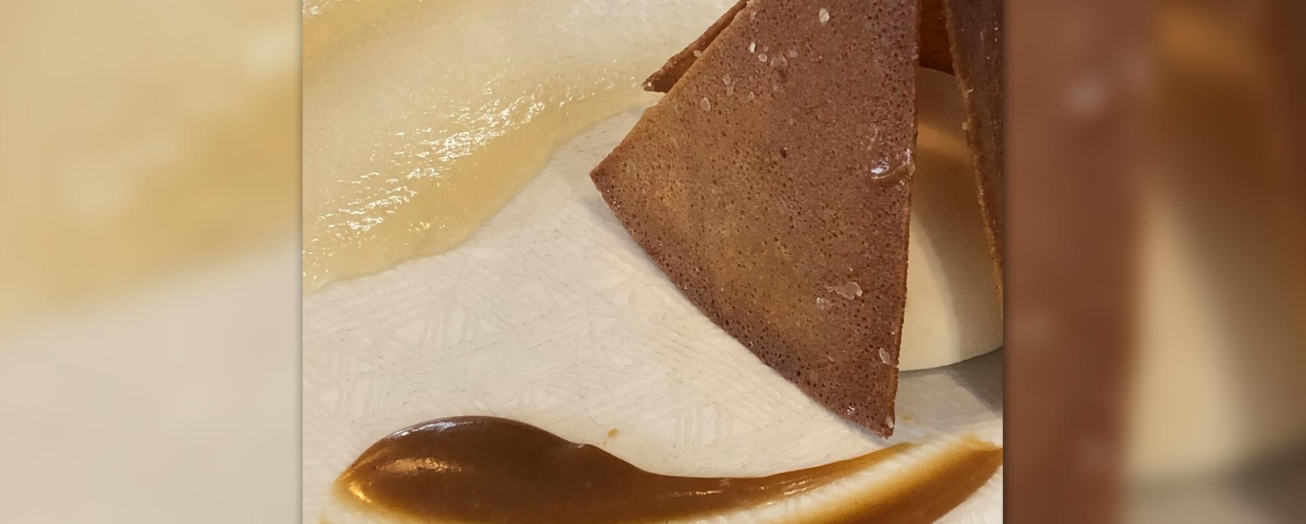Notre recette du mois : crêpe croustillante, panna cotta au lait ribot