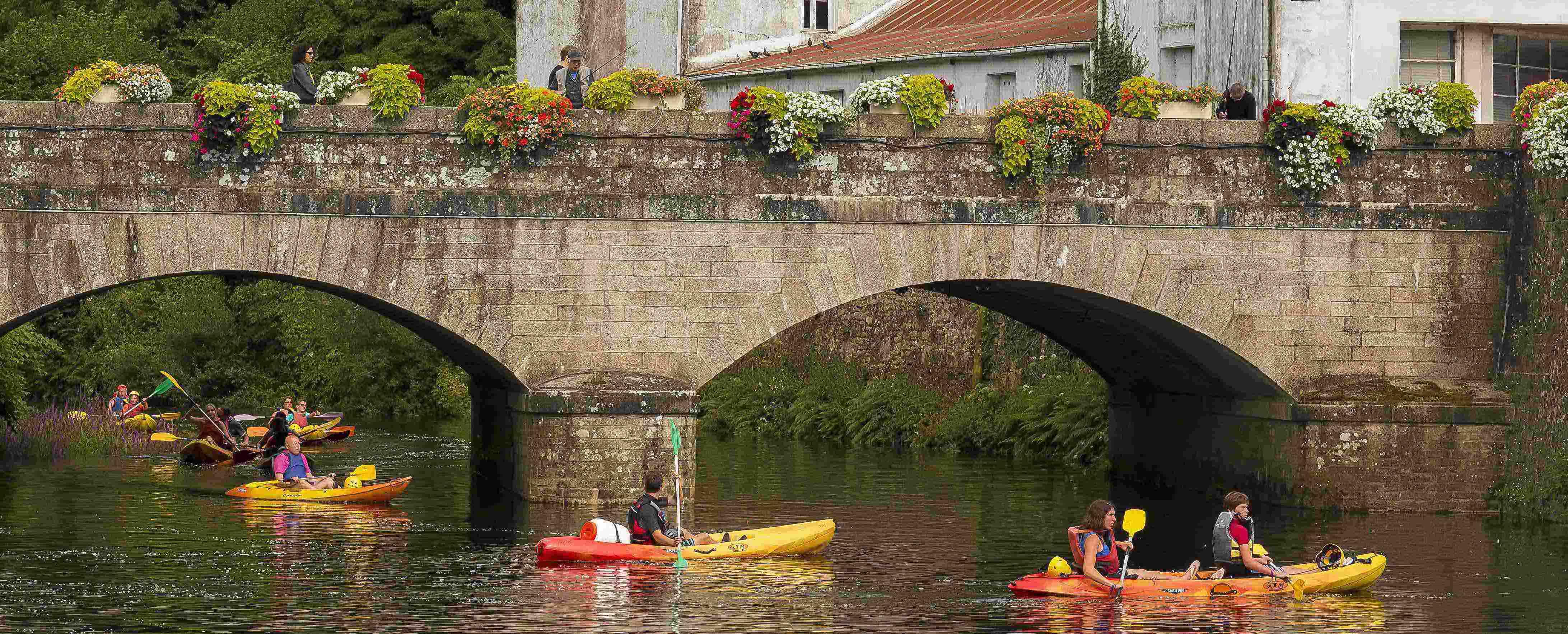 Randonnée découverte du patrimoine de Quimperlé en kayak